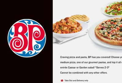 PIZZA, PASTA & SALAD MEAL DEAL at Boston Pizza