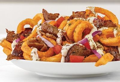 Greek Loaded Curly Fries at Arby's