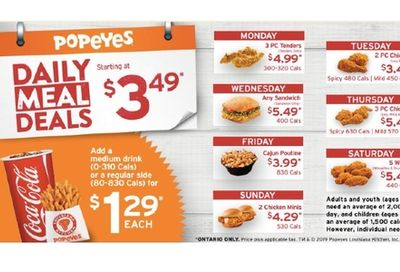 Daily Deals! at Popeyes