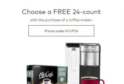 Keurig Canada Deals: FREE 24-Count With Your Purchase Of  A Coffee Maker + 20% OFF Accessories + More
