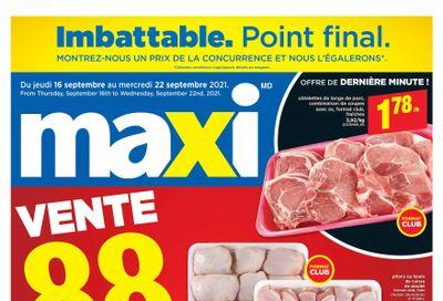 Maxi & Cie Flyer September 16 to 22
